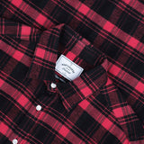 Pink Panther Plaid Flannel Shirt - Pink/Black