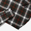 Plaid Flannel Shirt -  Olive Herringbone