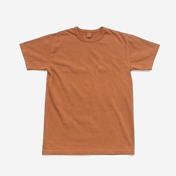 Garment Dyed Heavyweight Plain T-Shirt - Clove