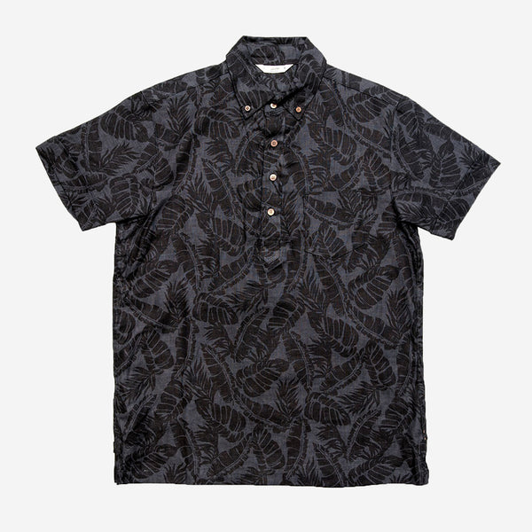 3sixteen - Popover Short-Sleeve Shirt - Black Palm