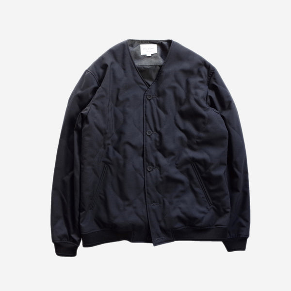 STILL BY HAND - Quilted Wool Blouson - Navy