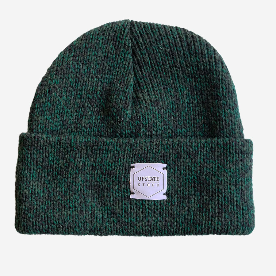 Upstate Stock - Ragg Wool Beanie Toque - Hunter Melange