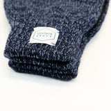 Upstate Stock - Ragg Wool Glove - Denim Melange/Black Deerskin