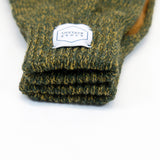 Upstate Stock - Ragg Wool Glove - Jungle Olive Melange/Natural Deerskin
