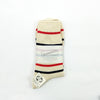 Re-Cotton Stripe 3Q Socks - Red Melange