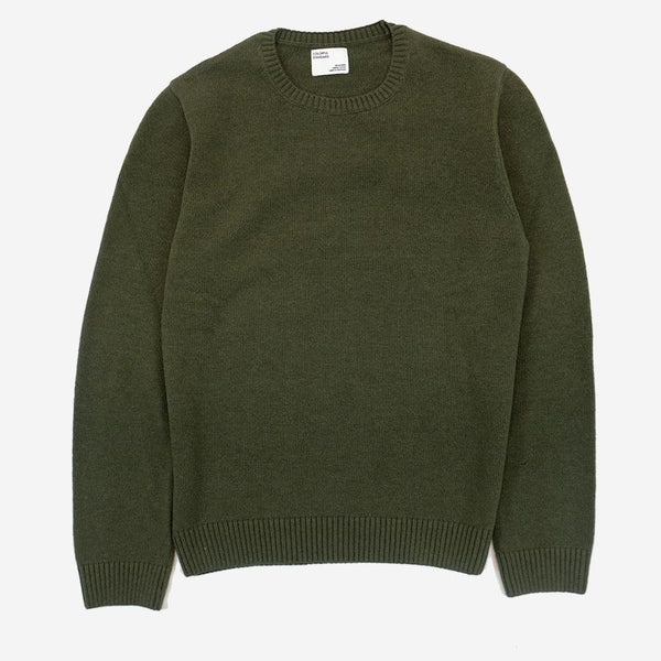 Colorful Standard - Merino Wool Crew Sweater - Dusty Olive
