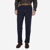 Relaxed Tapered Corduroy Trousers - Navy
