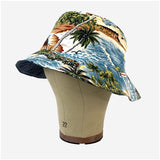 Reversible Bucket Hat - Chambray / Island Print