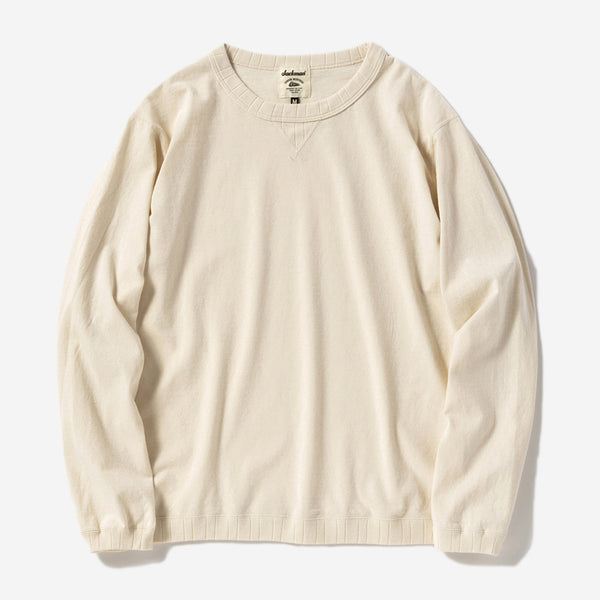 Rib Long-sleeve T-Shirt - Ecru