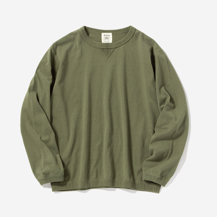 Rib Long-sleeve T-Shirt - Loden Olive