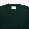Staple Ribbed Crew Lambswool Sweater - Tartan Green
