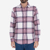 Rock Big Plaid Flannel Shirt - Pink/White