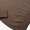 Roll Neck Merino Sweater - Hazel Brown