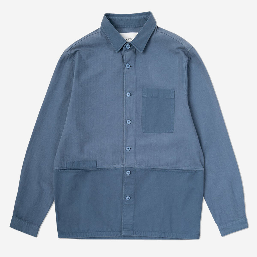 Rosyth Overshirt - Brushed Denim Blue