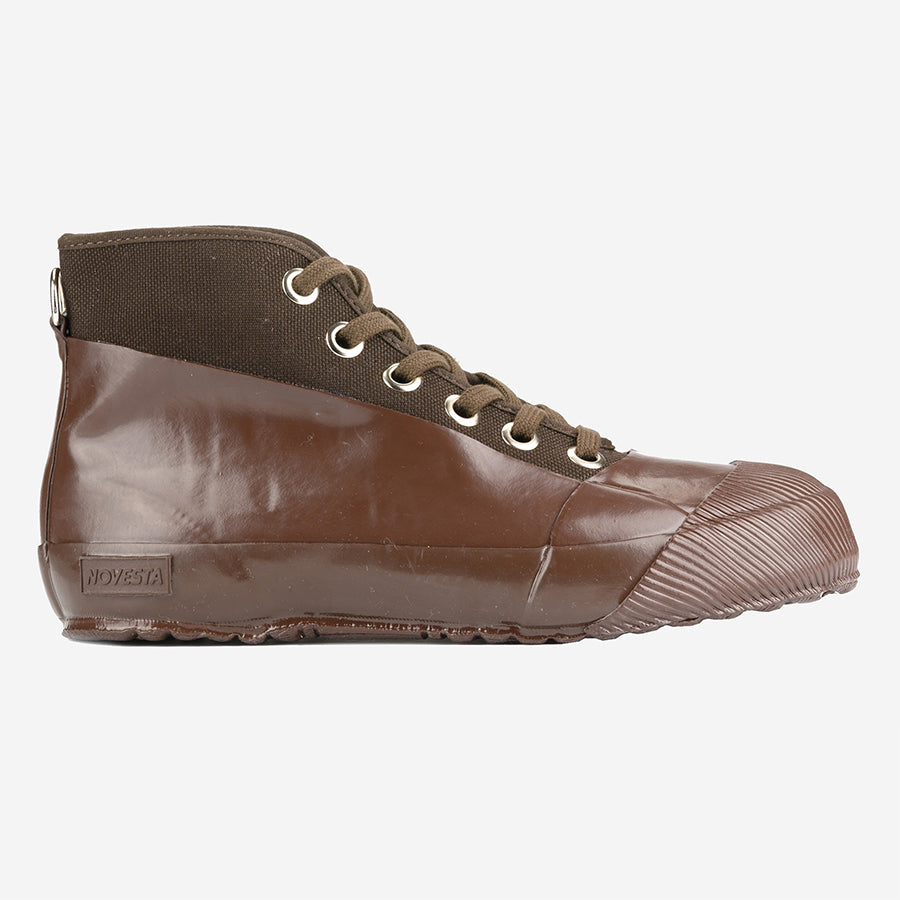Rubber Sneaker Boots - Brown/Brown