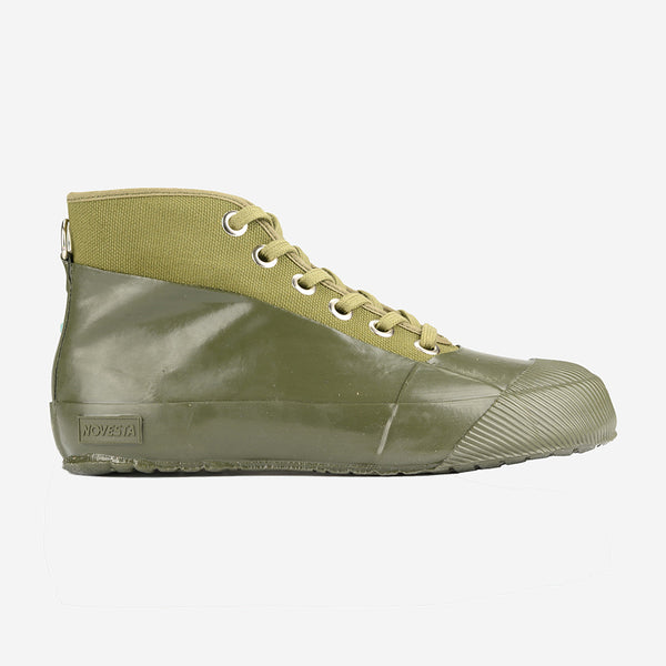 Rubber Sneaker Boots - Military/Military