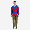 Stan Ray - Rugby Long-Sleeve Polo Shirt - Zany Blue/Carpet Red Stripe