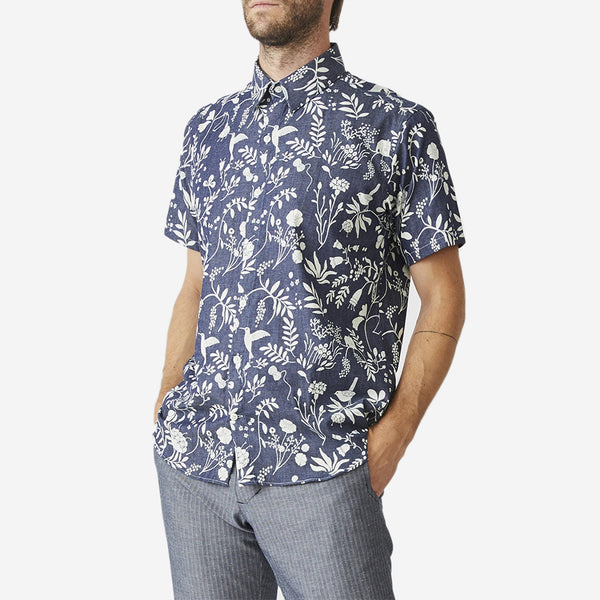 The Dylan Short-Sleeve Shirt - Garden Blues