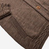 Shawl Collar Merino Cardigan - Hazel Brown