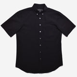 Outclass Attire - Short-Sleeve Shirt - Black Seersucker