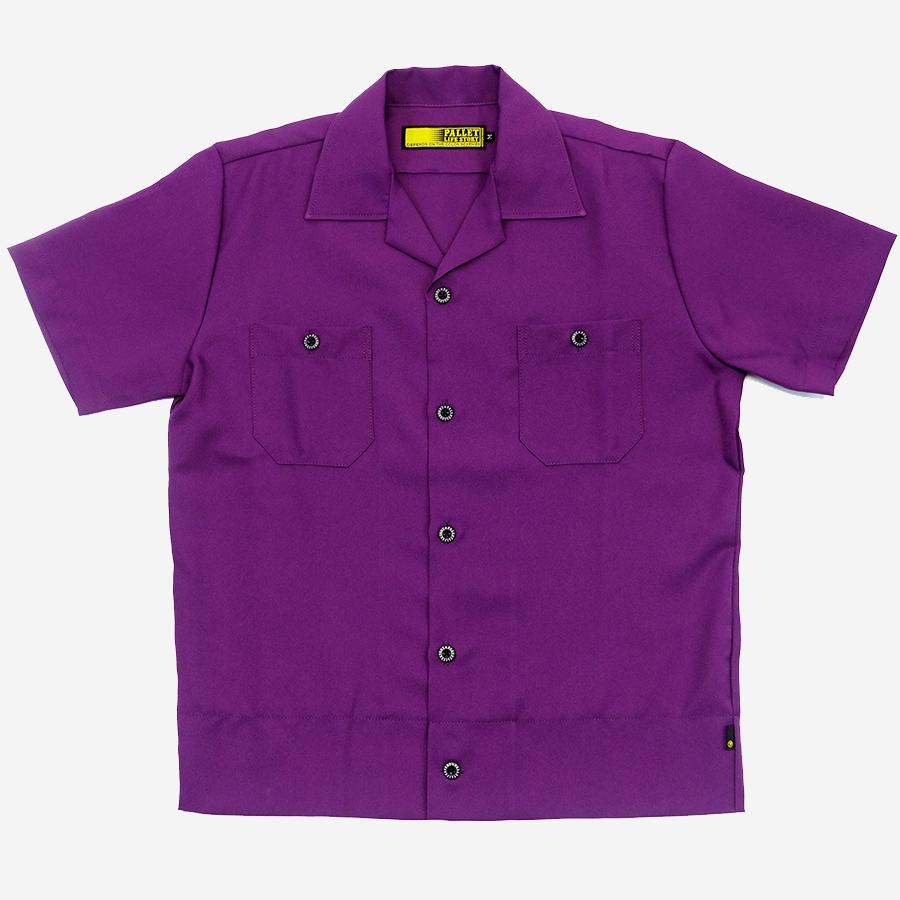 Pallet Life Story - Short-Sleeve Vacation Shirt - Purple