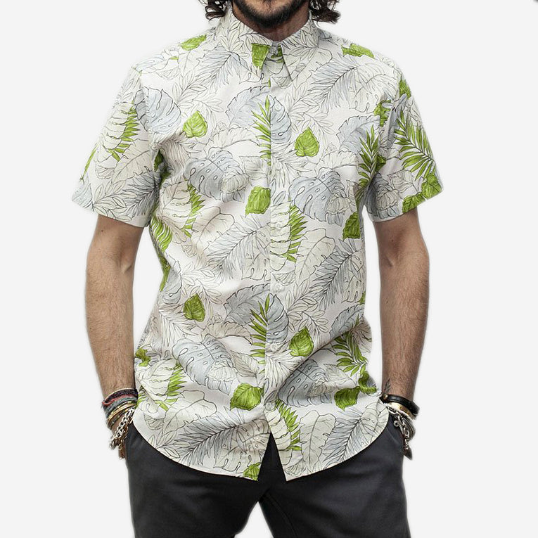 The Dylan Short-Sleeve Shirt - Faded Flora