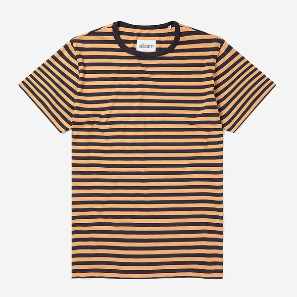 Albam - Simple Stripe T-Shirt - Turbulence/Ochre