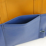 Woofell - Slim Briefcase - Tan & Blue