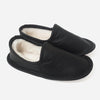Woolfell - Leather Slippers - Black with Sheepskin