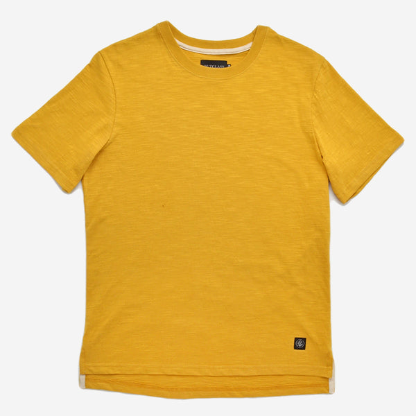 Slub Short-Sleeve T-Shirt - Turmeric
