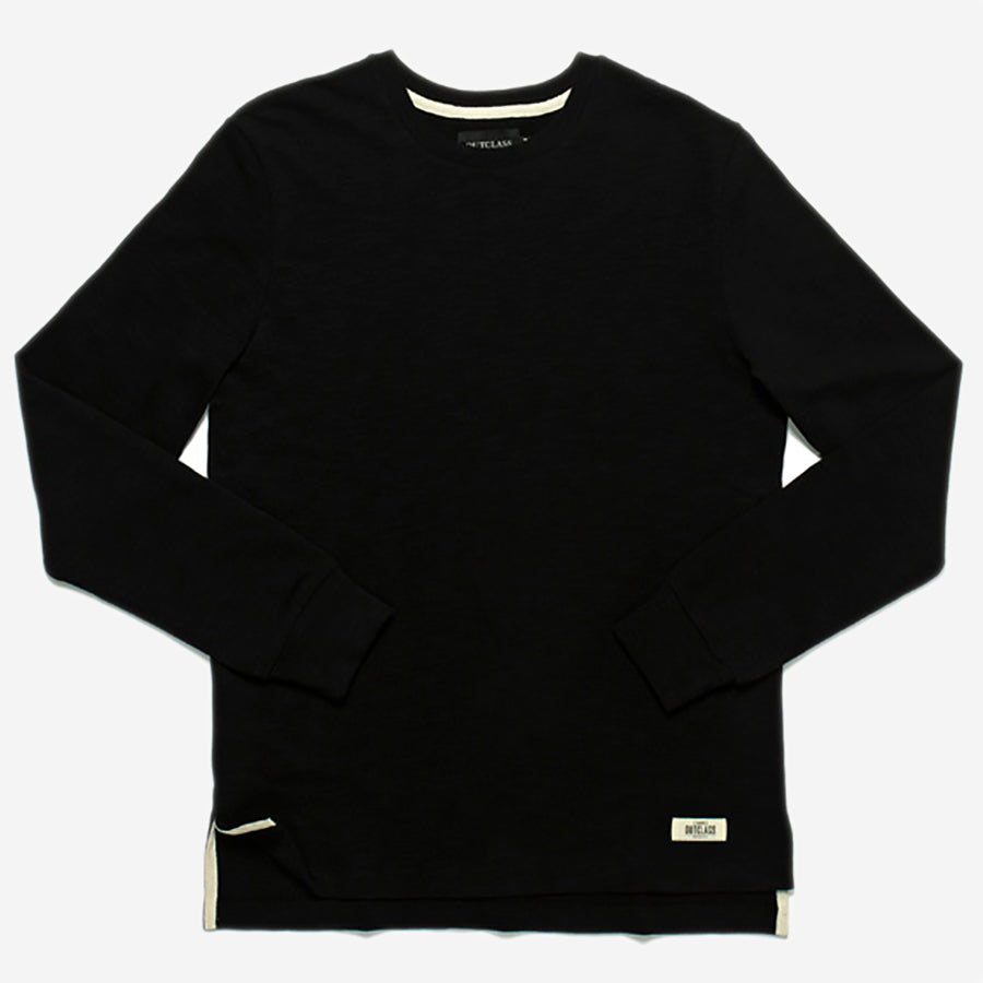 Slub Long-Sleeve T-Shirt - Black