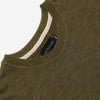 Outclass Attire - Slub Long-Sleeve T-Shirt - Olive Green