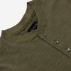 Outclass Attire - Slub Short-Sleeve Henley T-Shirt - Olive