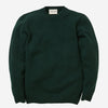Country Of Origin - Staple 5 Gauge Lambswool Crewneck Sweater - Tartan Green