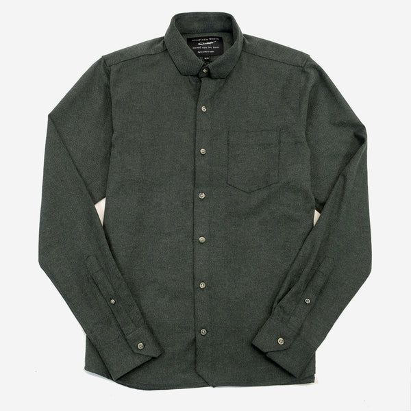 The Sterling Shirt - Soft Green Canvas