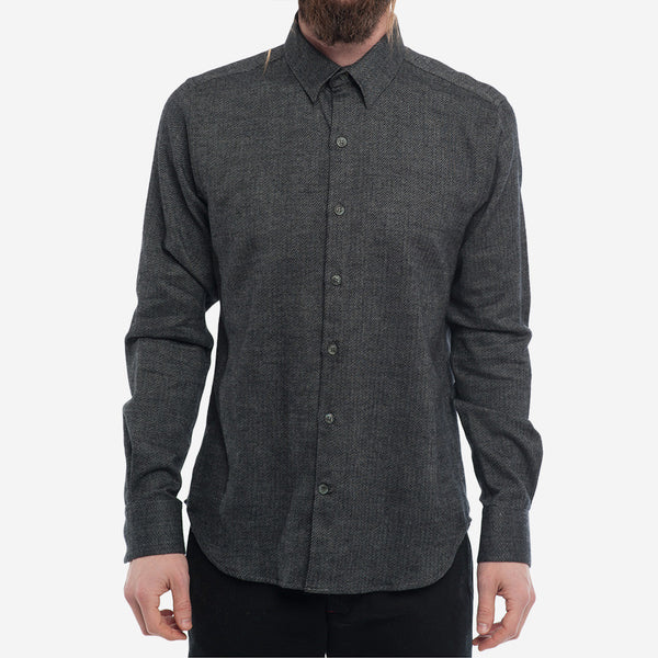 18 Waits - The Dylan Shirt - Charcoal Mix Flannel