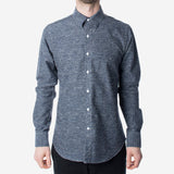 18 Waits - The Dylan Shirt - Navy Sky Slub