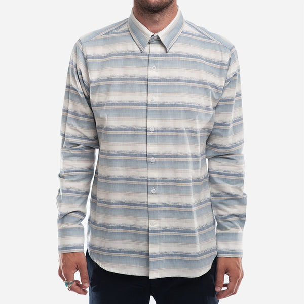 The Dylan Shirt (L/S) - Desert Stripes