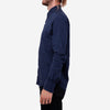 18 Waits - The Dylan Long-Sleeve Shirt - Indigo Cotton/Linen Stripe