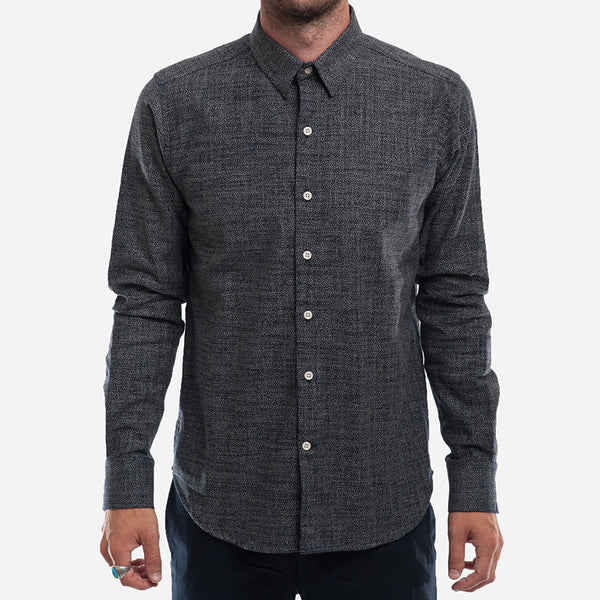 18 Waits - The Dylan Shirt (L/S) - Indigo Dots
