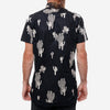 18 Waits - The Dylan Short-Sleeve Shirt - Navy Cacti