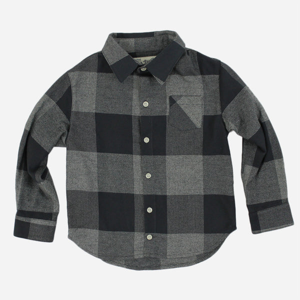18 Waits - The Hopper Shirt - Charcoal Check Flannel