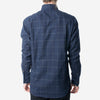 18 Waits - The Windsor Shirt - Navy Windowpane Flannel