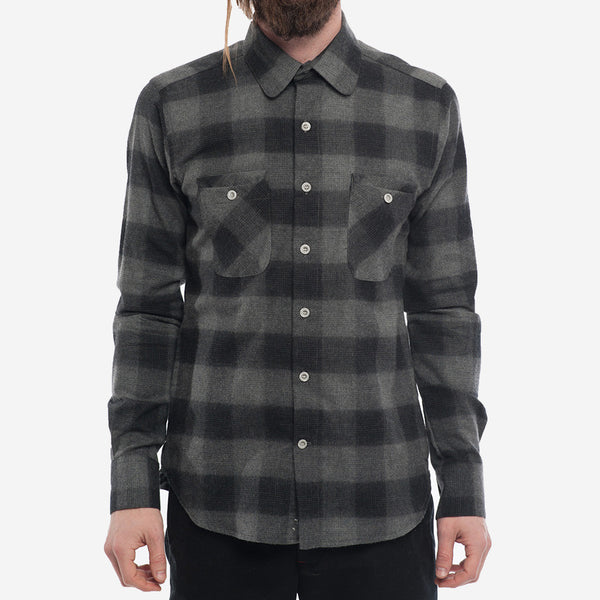 18 Waits - The Woodsman Pocket Shirt - Charcoal Check Flannel
