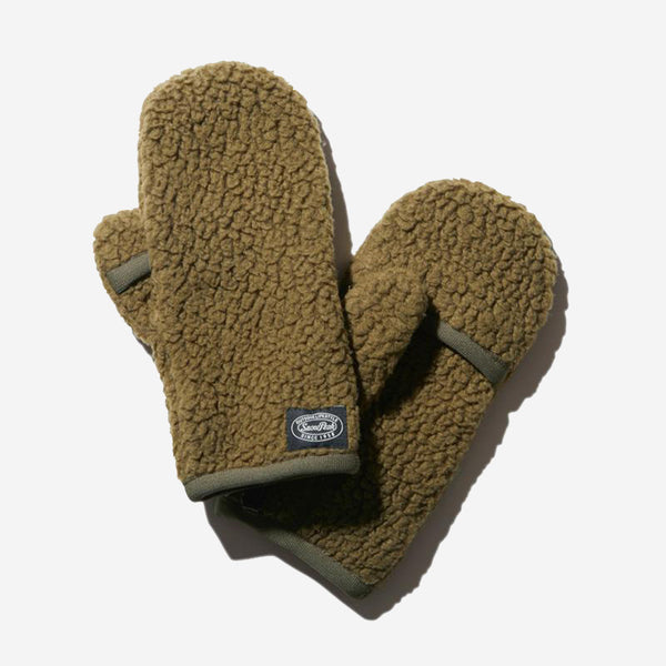 Thermal Boa Fleece Convertible Mittens - Olive