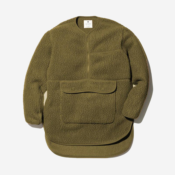 Thermal Boa Fleece Pullover - Olive