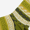 Tribal Pattern Crew Socks - Khaki Green