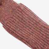 Anonymous Ism - Tweed Knuued Yarn Crew Socks - Wine