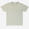 Velva Sheen - Uneven Border Stripe Pocket T-Shirt - Ht. Grey/Oatmeal