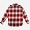 Utility Brushed Flannel Workshirt - Brick Red Plaid
